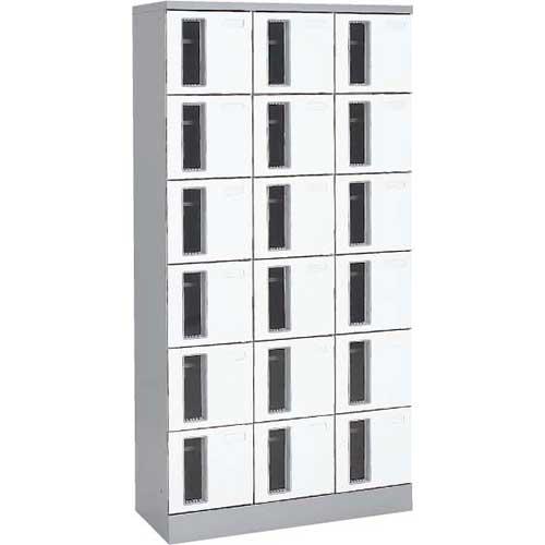共用スペースザパート扉付18人窓付シリンダー錠 ネオホワイト
