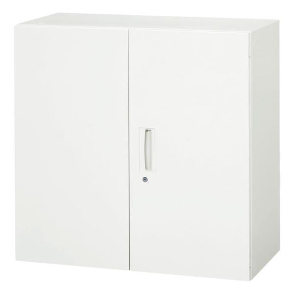 両開き書庫 ホワイト 幅900×奥行450×高さ890mm