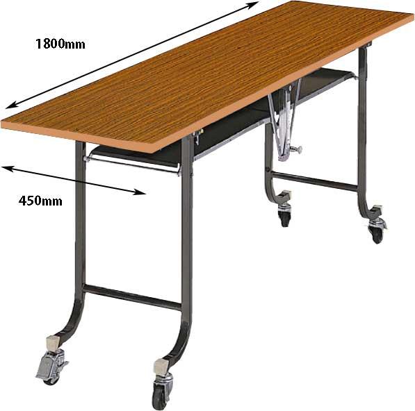 フライトテーブル チーク 奥行450mm