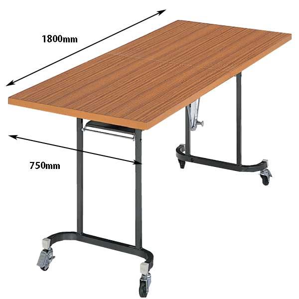 フライトテーブル チーク 奥行750mm