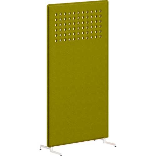 ライブスパネル スタンディング 丸穴模様 高さ1700 グリーン/ライトグレー