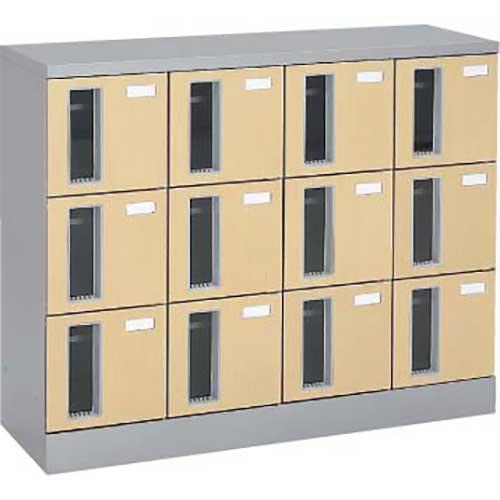 共用スペースザパート扉付12人窓付シリンダー錠 ネオウッドライト
