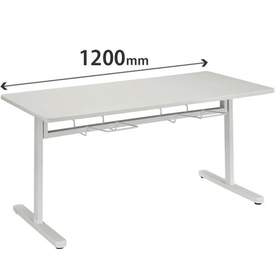 食堂用テーブル 4人掛け 幅1200×奥行750mm ホワイト