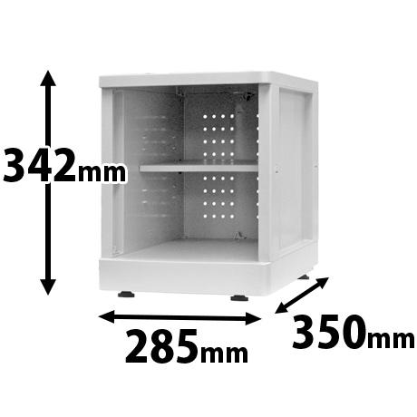 プラスチックロッカー オープン MSタイプ ベース付