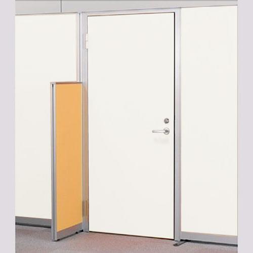 パーテーションLPX 左開き窓なしドア スチールパネル 高さ1900 ホワイト