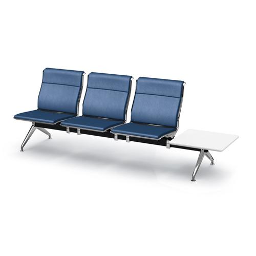 アルブロード 3人用イス 左テーブル付 パンチング インディゴブルー