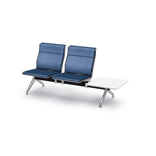 アルブロード 2人用イス 左テーブル付 パンチング インディゴブルー