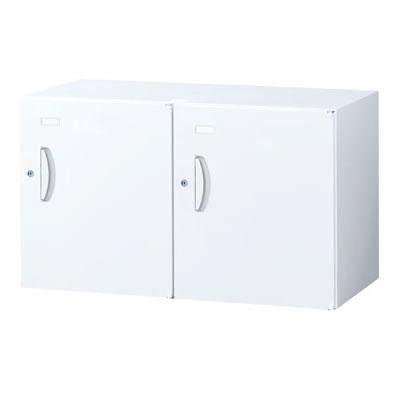 2人用メールボックス 幅900×奥行450×高さ525mm シリンダー錠 ホワイト