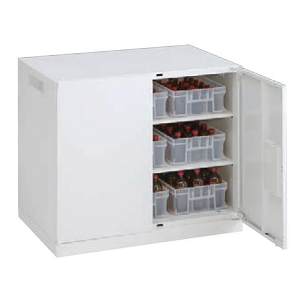 レクトラインラボ 薬瓶保管庫 バーチカル両開き ベース一体下置き ネオホワイト