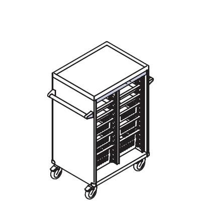 リレイト 搬送カート ロータイプ オープン 3×4トレー パープル