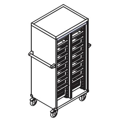 リレイト 搬送カート ハイタイプ オープン 3×4トレー パープル