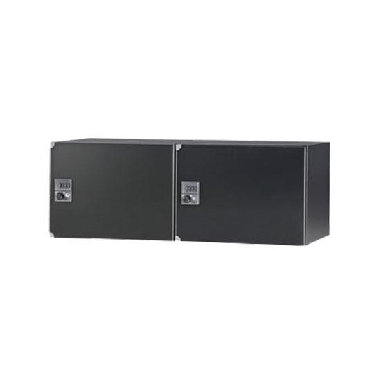 国産汎用パーソナルロッカー 2列1段2人用 ダイヤル錠 ブラック
