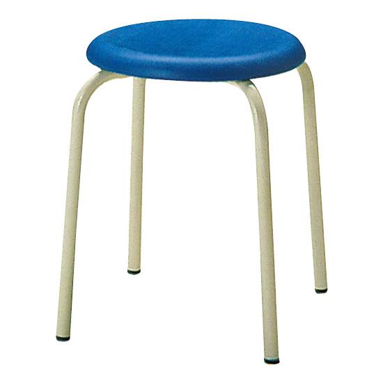 丸椅子Φ330 ブルー 6脚セット