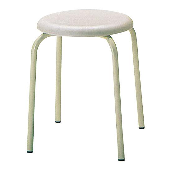 丸椅子Φ330 アイボリー 6脚セット